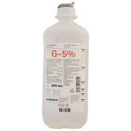 Глюкоза Браун, 5%, раствор для инфузий, 500 мл, 10 шт.