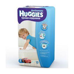 Huggies Подгузники-трусики детские, 13-17 кг, р. 5, для мальчиков, 15шт.