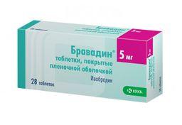 Бравадин, 5 мг, таблетки, покрытые пленочной оболочкой, 28 шт.