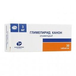 Глимепирид Канон, 3 мг, таблетки, 30 шт.
