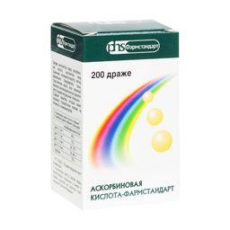 Аскорбиновая кислота-Фармстандарт, 25 мг, драже, 200 шт.