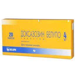 Доксазозин Белупо, 4 мг, таблетки, 20 шт.