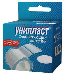 Унипласт пластырь фиксирующий, 5х500, пластырь медицинский, на основе нетканого материала, 1 шт.