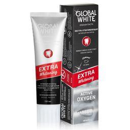 Global White зубная паста Экстра отбеливающая Активный кислород, 100 мл, 1 шт.
