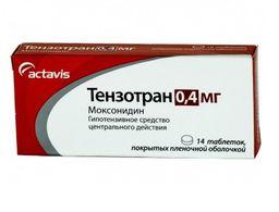 Тензотран, 0.4 мг, таблетки, покрытые пленочной оболочкой, 14 шт.