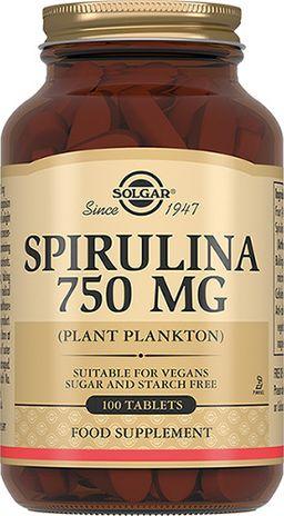 Solgar Спирулина 750 мг, 750 мг, таблетки, 100 шт.