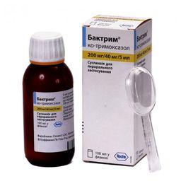 Бактрим, 240 мг/5 мл, суспензия для приема внутрь, 100 мл, 1 шт.