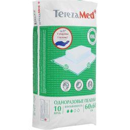 Пеленки впитывающие TerezaMed, 60 смx60 см, Normal (2 капли), 10 шт.