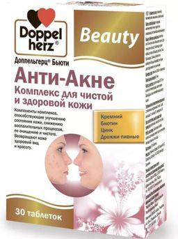 Доппельгерц Бьюти Анти-акне, 1240 мг, таблетки, 30 шт.