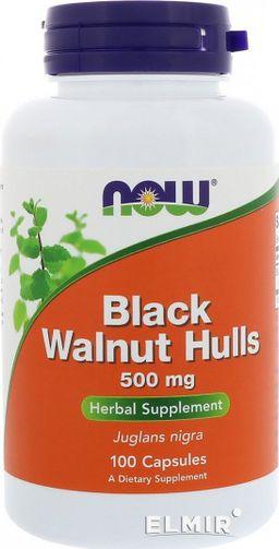 NOW Черный орех, 500 мг, капсулы, 100шт.