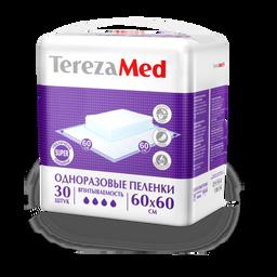 TerezaMed Super пеленки одноразовые, 60 смx60 см, Super (4 капли), 30 шт.