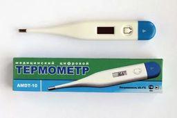 Термометр медицинский цифровой AMDT-10, ударостойкий корпус, 1 шт.