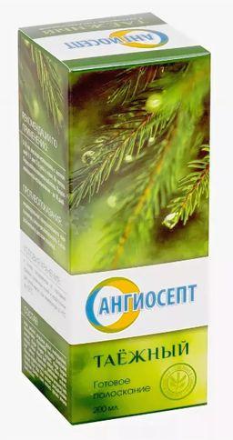 Ополаскиватель Ангиосепт, раствор для полоскания полости рта, таежный, 200 мл, 1 шт.