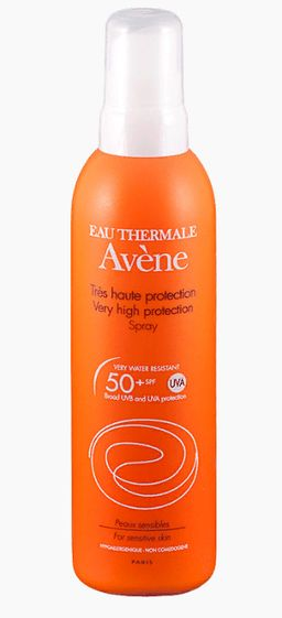 Avene солнцезащитный спрей SPF50+, спрей, 200 мл, 1 шт.