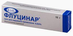 Флуцинар, 0.025%, гель для наружного применения, 15 г, 1 шт.