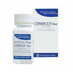 Спрайсел, 70 мг, таблетки, покрытые пленочной оболочкой, 60 шт.