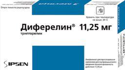 Диферелин, 11.25 мг, лиофилизат для приготовления суспензии для внутримышечного введения пролонгированного действия, в комплекте с растворителем, 1шт.