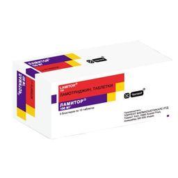 Ламитор, 100 мг, таблетки, 50 шт.