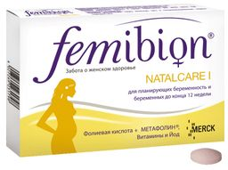 Фемибион Наталкер I, таблетки, покрытые оболочкой, 30 шт.