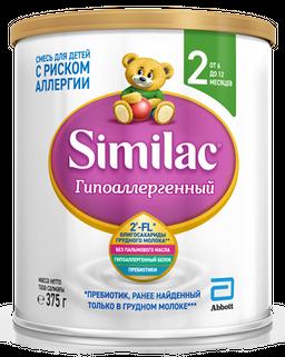 Similac Гипоаллергенный 2, для детей с 6 месяцев, смесь молочная сухая, 375 г, 1шт.
