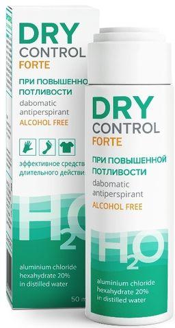 Dry Control Forte дабоматик антиперспирант без спирта 20%, без спирта, 50 мл, 1 шт.