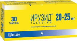Ирузид, 20 мг+25 мг, таблетки, 30 шт.