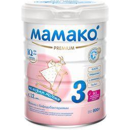 Мамако 3 Premium молочная смесь на основе козьего молока, смесь молочная сухая, 800 г, 1шт.