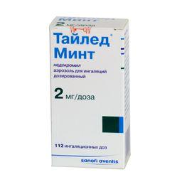 Тайлед Минт, 2 мг/доза, 112 доз, аэрозоль для ингаляций дозированный, 1 шт.