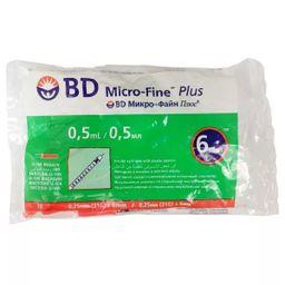 Шприц инсулиновый с несъемной иглой BD Micro-Fine Plus U-100