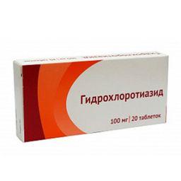 Гидрохлоротиазид, 100 мг, таблетки, 20 шт.