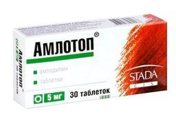 Амлотоп, 5 мг, таблетки, 30 шт.