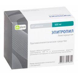 Эпитропил, 500 мг, таблетки, покрытые пленочной оболочкой, 60 шт.