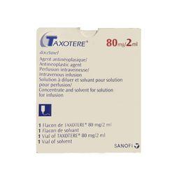 Таксотер, 80 мг, концентрат для приготовления раствора для инфузий, 2 мл, 1шт.