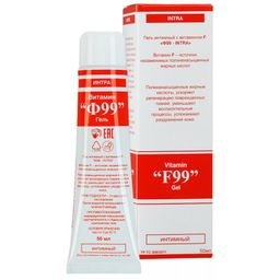 Витамин Ф99-INTRA гель интимный с витамином F, гель для наружного применения, 50 мл, 1 шт.