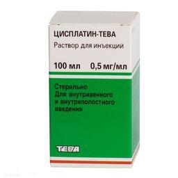 Цисплатин-Тева, 0.5 мг/мл, раствор для инъекций, 100 мл, 1шт.