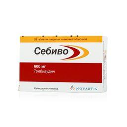Себиво, 600 мг, таблетки, покрытые пленочной оболочкой, 28 шт.