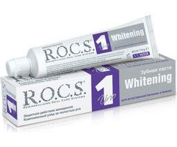 ROCS Uno Зубная паста Отбеливающая, без фтора, паста зубная, 74 г, 1 шт.