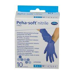 Peha-Soft Nitrile Fino Перчатки медицинские, S (6-7), синего цвета, 10шт.