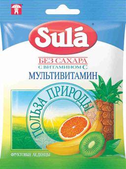 Sula карамель леденцовая без сахара, мультивитаминные, 60 г, 1 шт.