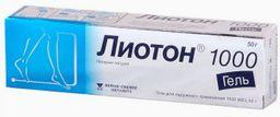Лиотон 1000, 1000 ЕД/г, гель для наружного применения, 50 г, 1 шт.