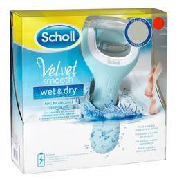 Scholl Velvet Smooth Wet&Dry электрическая роликовая водонепроницаемая пилка, 1 шт.