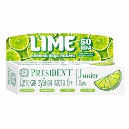 PresiDent Junior зубная паста лайм, паста-гель, 50 мл, 1шт.