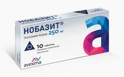 Нобазит, 250 мг, таблетки, покрытые оболочкой, 10шт.