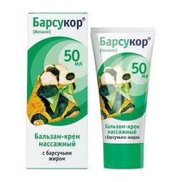 Барсукор бальзам-крем массажный с барсучьим жиром, крем-бальзам, 50 мл, 1шт.