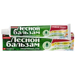 Лесной бальзам зубная паста Тройной эффект с ромашкой, с фтором, паста зубная, 75 мл, 1 шт.