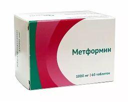 Метформин, 1000 мг, таблетки, 60 шт.