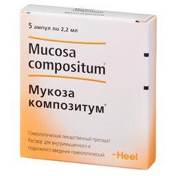 Мукоза композитум, раствор для внутримышечного и подкожного введения гомеопатический, 2.2 мл, 5 шт.
