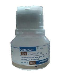 Омнипак, 300 мг йода/мл, раствор для инъекций, 50 мл, 10 шт.