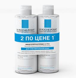 La Roche-Posay Ultra sensitive мицеллярная вода, мицеллярная вода, 400 мл, 2шт.