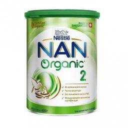 NAN 2 Organic, для детей с 6 месяцев, смесь молочная сухая, с органическим молоком, 400 г, 1шт.